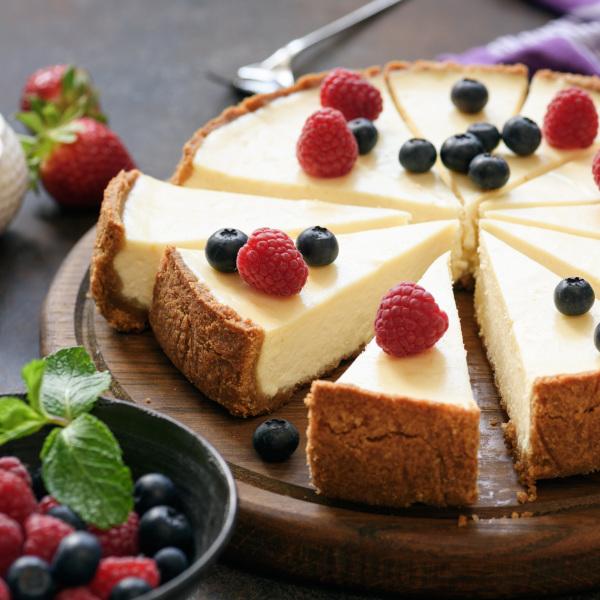 Cheesecake mit Boden