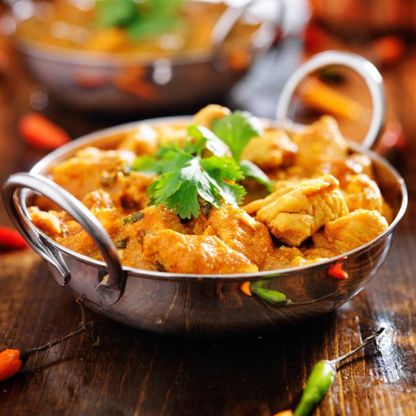 Putenbrust mit Kokos-Curry-Sauce