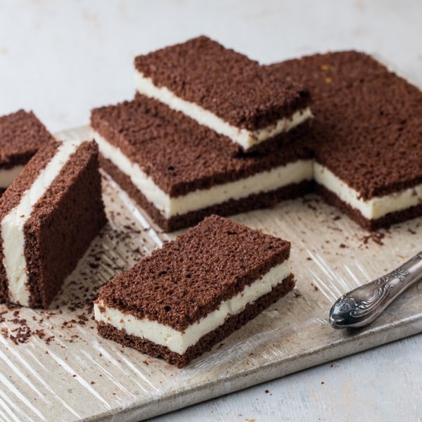 Low Carb-Milchcremeschnitte